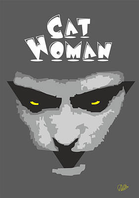 Cat Woman Poster by Joaquin Abella