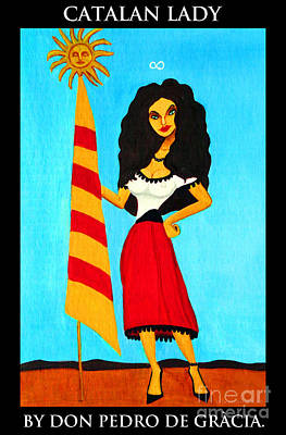 Catalan Lady / La Ramona Poster by Don Pedro De Gracia
