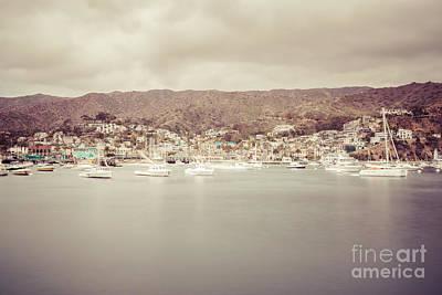 Catalina Island Avalon Bay Retro Photo Poster by Paul Velgos