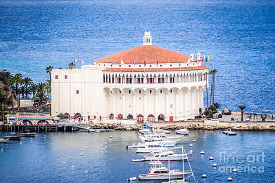 Catalina Island Casino Picture Poster by Paul Velgos