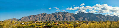 Poster featuring the photograph Catalina Mountain Panorama by Dan McManus
