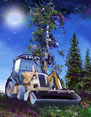 Catapillar And Trees Poster
