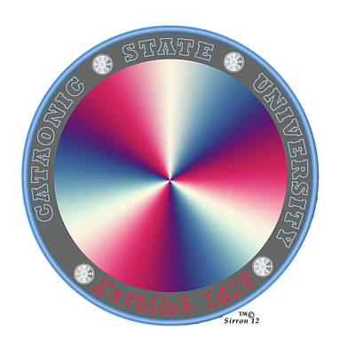 Catatonic State University Seal   Poster by Sirron Kyles