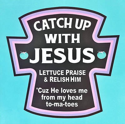 Poster featuring the photograph Catch Up With Jesus  Alt by Rob Hans