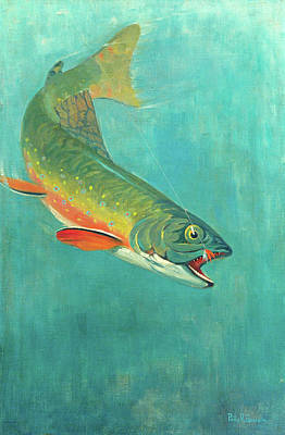 Catching The Bait Poster by Philip R Goodwin
