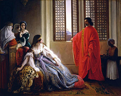 Caterina Cornaro Deposed From The Throne Of Cyprus Poster by Francesco Hayez