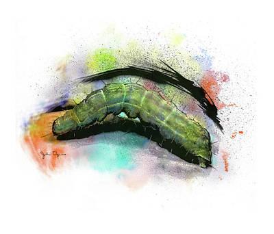 Caterpillar Drawing Poster