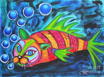 Catfish - Surf N'turf Poster by Claudia Tuli