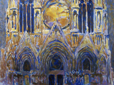Poster featuring the painting Cathedral 2 by Valeriy Mavlo
