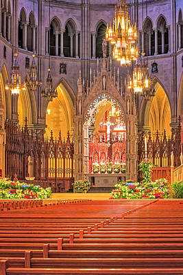 Poster featuring the photograph Cathedral Basilica Of The Sacred Heart Newark Nj by Susan Candelario