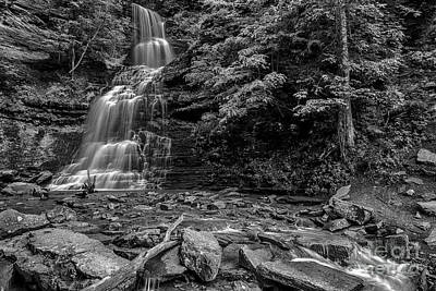 Cathedral Falls Black And White Poster