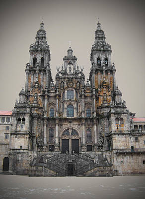 Cathedral Of Santiago De Compostela Poster by Jasna Buncic