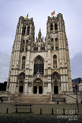 Cathedral Of St Michael And St Gudula Poster