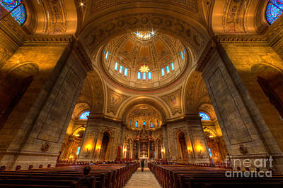 Cathedral Of St Paul Wide Interior St Paul Minnesota Poster by Wayne Moran