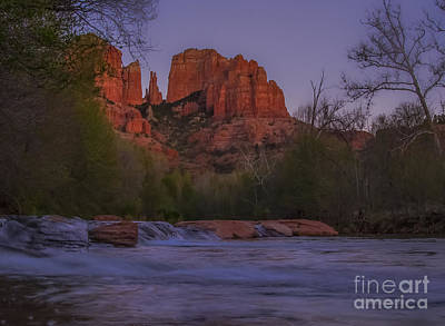 Cathedral Rock At Dusk Poster