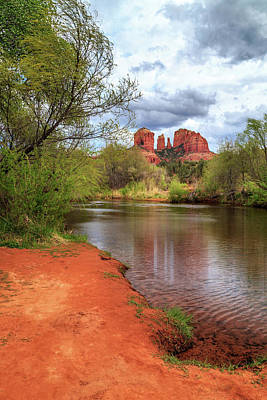 Poster featuring the photograph Cathedral Rock From Oak Creek by James Eddy