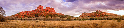 Cathedral Rock Panorama Poster by Alexey Stiop