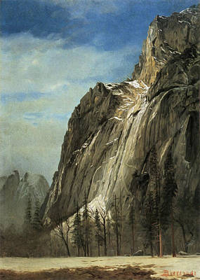 Cathedral Rocks A Yosemite View Poster