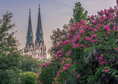 Cathedral Spires At Sunset Poster by Rob Sellers