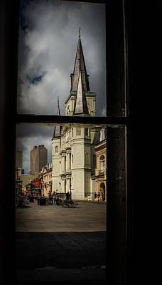 Cathedral Through Window Poster