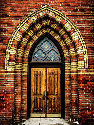 Poster featuring the photograph Cathedral Tower Door by Onyonet  Photo Studios