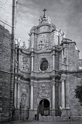 Poster featuring the photograph Cathedral Valencia Spain by Joan Carroll