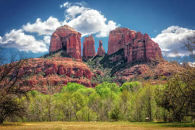 Catherdral Rock - Sedona Poster by Jennifer Rondinelli Reilly - Fine Art Photography