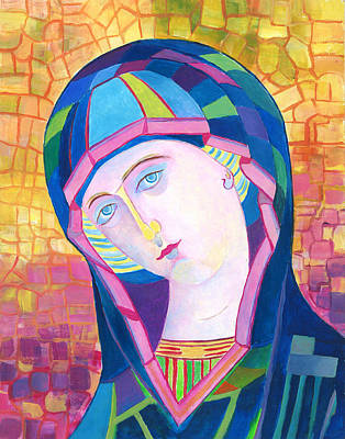 Our Lady Of Lourdes Catholic Art Poster