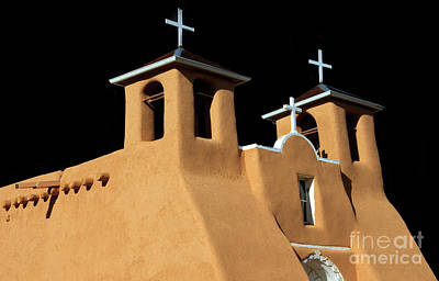 St Francis De Assi Church  New Mexico Poster by Bob Christopher