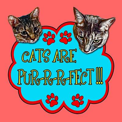 Cats Are Pur-r-r-fect Poster