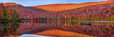 Poster featuring the photograph Catskills Panorama 1 by Mark Papke