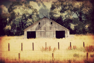 Hwy 3 Barn Poster by Julie Hamilton