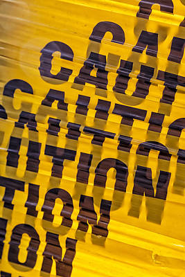Caution Sign Poster