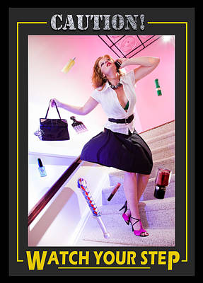 Caution Watch Your Step Version 2 Poster