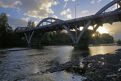 Caveman Bridge At Sunset Poster