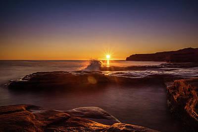 Cavendish Waves At Sunrise Poster by Chris Bordeleau