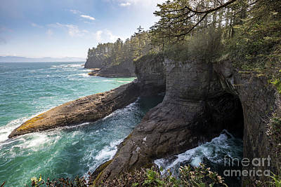 Caves At Cape Flattery In Washington Poster