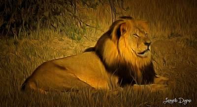 Cecil The Lion - Da Poster by Leonardo Digenio