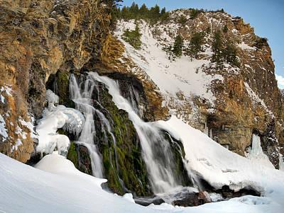 Cedar Creek Falls Winter Poster by Leland D Howard