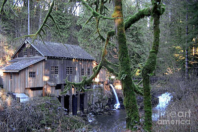 Poster featuring the photograph Cedar Creek Grist Mill by Larry Keahey