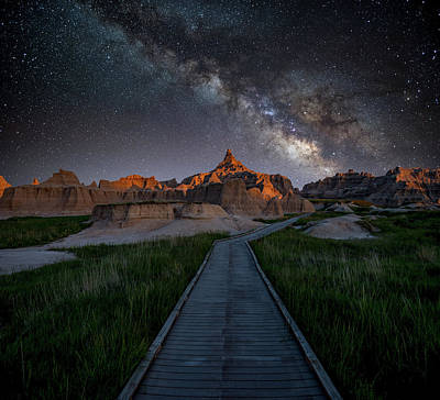 Poster featuring the photograph Cedar Pass Milky Way by Darren White