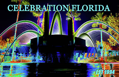 Celebration Florida Est 1994 Work A Poster by David Lee Thompson