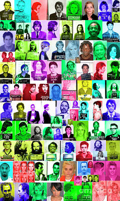 Celebrity Mugshots Poster by Jon Neidert