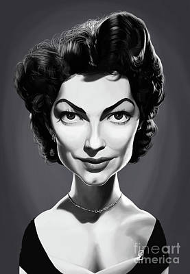 Poster featuring the digital art Celebrity Sunday - Ava Gardner by Rob Snow