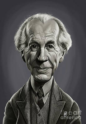 Poster featuring the digital art Celebrity Sunday - Frank Lloyd Wright by Rob Snow