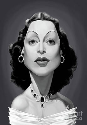 Poster featuring the digital art Celebrity Sunday - Hedy Lamarr by Rob Snow