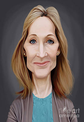 Poster featuring the digital art Celebrity Sunday - J.k.rowling by Rob Snow