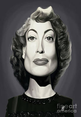 Poster featuring the digital art Celebrity Sunday - Joan Crawford by Rob Snow