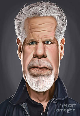 Celebrity Sunday - Ron Perlman Poster by Rob Snow