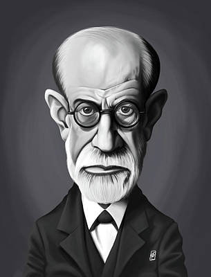 Celebrity Sunday - Sigmund Freud Poster by Rob Snow